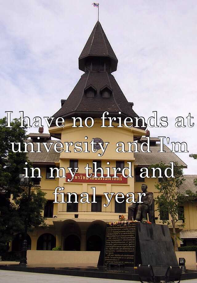 I have no friends at university and I'm in my third and final year