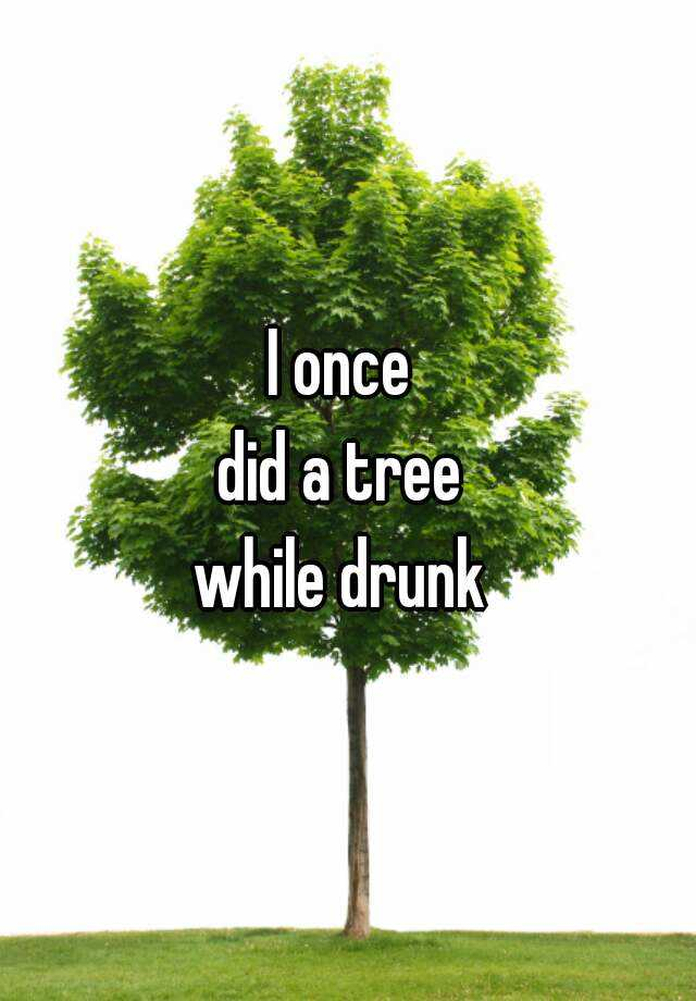 I once  did a tree  while drunk