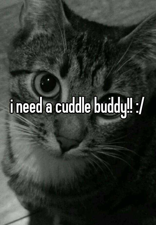 i need a cuddle buddy!! :/