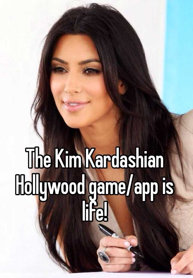 The Kim Kardashian Hollywood game/app is life!